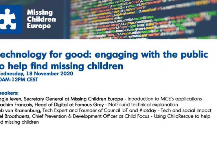 Missing Children Europe's online symposium 18/11