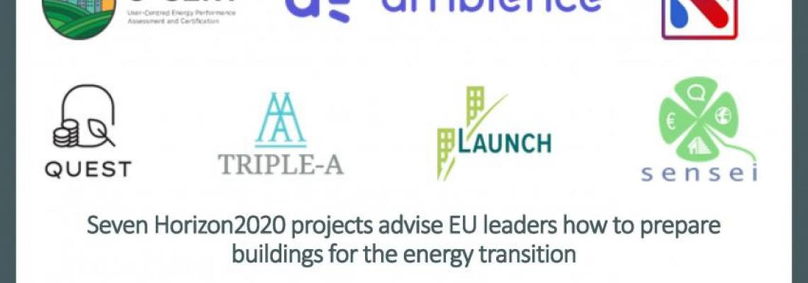 Seven Horizon2020 projects advise EU leaders how to prepare buildings for the energy transition